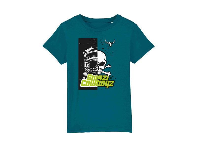 KIDS HELMET T-Shirt powered by SwaziCowboyz