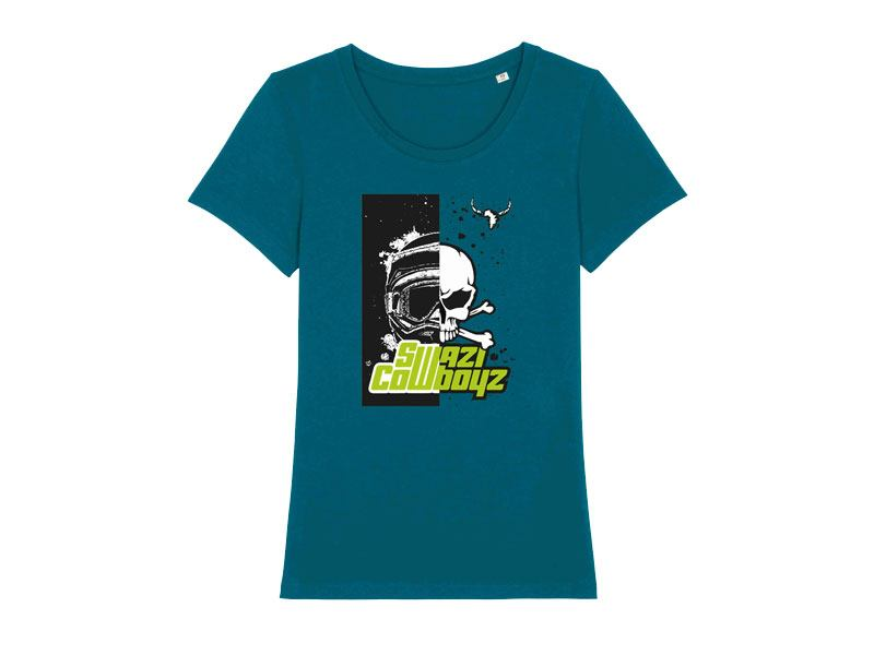 WOMENS HELMET T-Shirt powered by SwaziCowboyz