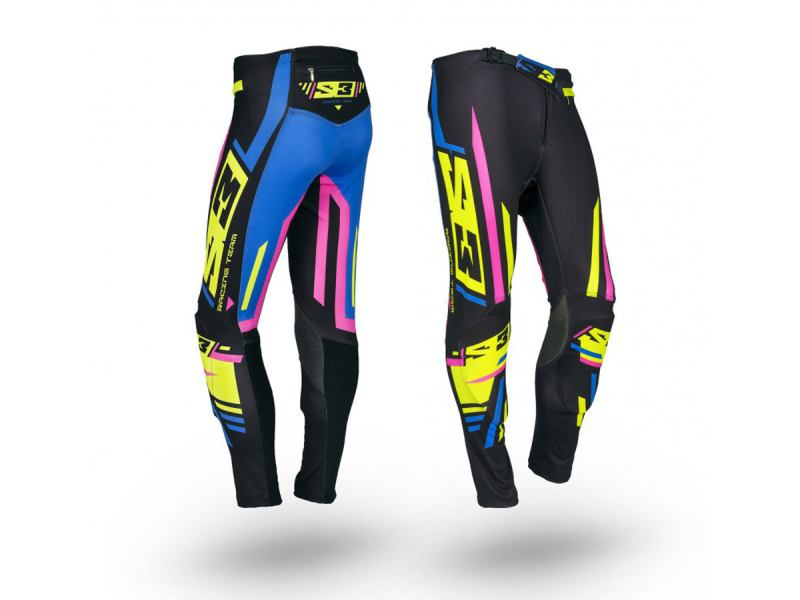 kinder-hosen-s3-racing-team-pilot-trial-pink-blau-gelb